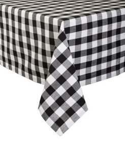 """Checkers Tablecloth 52"""" x 52"""""""