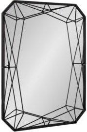 """Closeout! Kate and Laurel Keyleigh Rectangle Metal Accent Wall Mirror - 22"""" x 28"""""""
