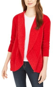 Knit Chenille Shawl Collar Cardigan, Created for Macy's
