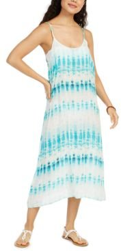 Tie-Dyed Printed Swim Cover-Up Dress Women's Swimsuit