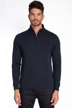 1/4 Zip Knit Pullover Sweater