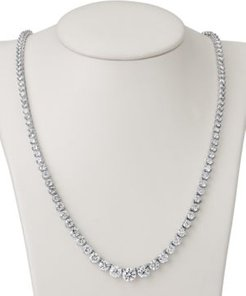 """Certified Diamond Graduated 17"""" Statement Necklace (15 ct. t.w.) in 18k White Gold"""