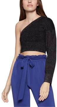 One-Sleeve Cropped Sweater