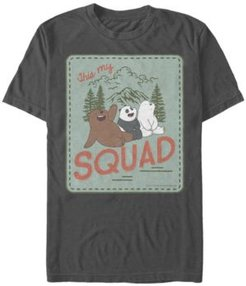 We Bare Bears This My Squad Patch Short Sleeve T- shirt