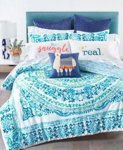 Whim by Martha Stewart Collection Valencia Mandala 3-Pc. Full/Queen Comforter Set, Created for Macy's Bedding