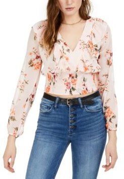 Floral Smocked-Waist Top, Created for Macy's