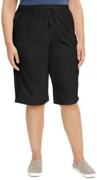 Plus Size Sport Skimmer Knit Shorts, Created for Macy's