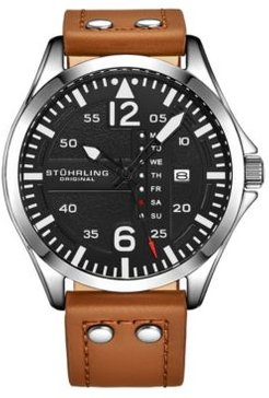 Tan Leather Strap Watch 51mm