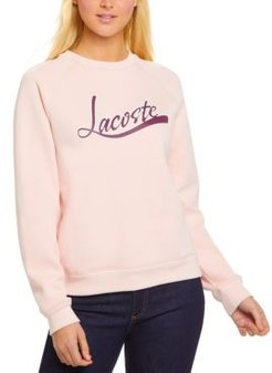 Classic-Fit Long-Sleeve Graphic Sweatshirt