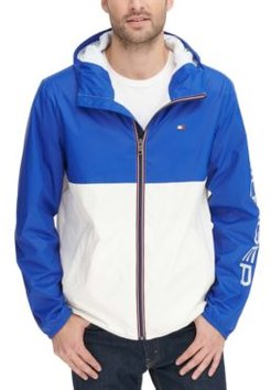 Colorblocked Logo Rain Slicker