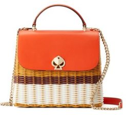 Romy Wicker Top Handle Satchel