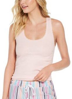 Ribbed Lace-Trim Tank Top, Created for Macy's