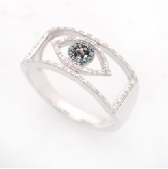 Diamond Evil Eye Ring (1/6 ct. t.w.) in 10k Gold or 10k White Gold Created for Macy's