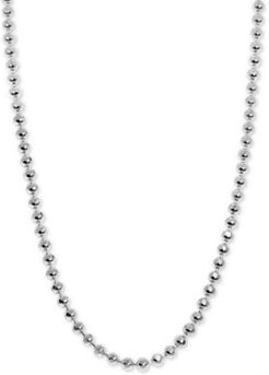 """Alex Woo Beaded 18"""" Mini Chain Necklace in Sterling Silver"""