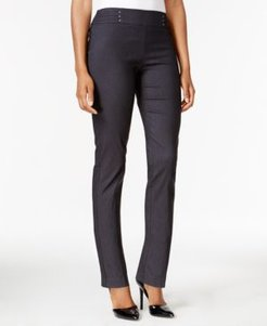 Petite Short Studded Pull-On Pants, Created for Macy's