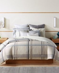 Closeout! Hotel Collection Modern Plaid Full/Queen Comforter, Created for Macy's Bedding
