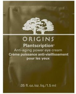 Receive a Free Plantscription Anti Aging Power Eye Cream Packatte with any Origins Mascara purchase