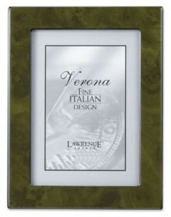 """Forest Green Faux Burl Picture Frame - Polished Lustrous Finish with Sides Finished In Black - 4"""" x 6"""""""