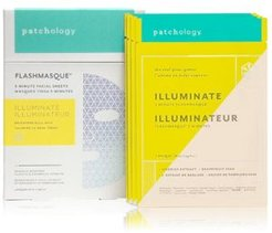 FlashMasque 5 Minute Facial Sheets Set - Illuminate