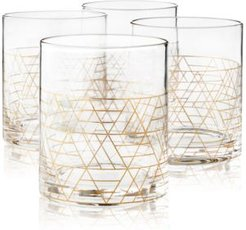 Gold Decal Double Old-Fashioned Glasses, Set of 4, Created for Macy's