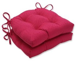 Paragon Raspberry Reversible Chair Pad, Set of 2