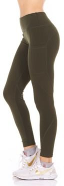 Perforated Side Pockets Leggings