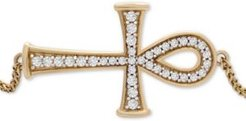 Diamond Ankh Bolo Bracelet (1/4 ct. t.w.) in 14k Gold, Created for Macy's