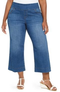 Plus Size Pull-On Wide-Leg Jeans, Created For Macy's