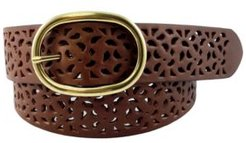 Perforated Leather Jean Belt