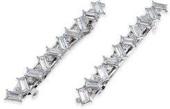 Inc 2-Pc. Silver-Tone Crystal Baguette Hair Barrette Set, Created for Macy's