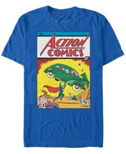 Dc Men's Superman Action Comics Number One Cover Short Sleeve T-Shirt