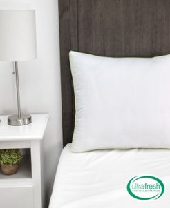 Ultra-Fresh Luxury Gusseted Antimicrobial Pillows Set of 2 with Nanotex Coolest Comfort Technology - Standard