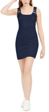 Buckle-Detail Bodycon Sweater Dress, Created for Macy's