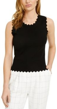 Sleeveless Scalloped Knit Top, Created for Macy's