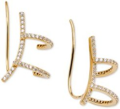 Cubic Zirconia Pave Ear Cuff & Climbers