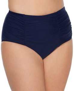 Trendy Plus Size Costa High-Waist Tummy-Control Bikini Bottoms Women's Swimsuit