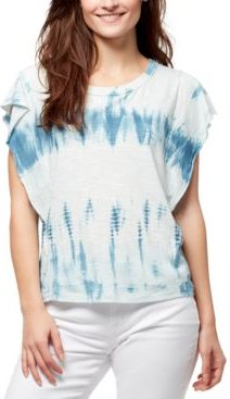 Ruffled Tie-Dyed Top