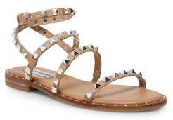 Travel Rock Stud Flat Sandals
