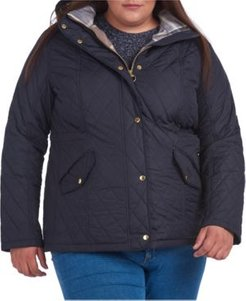 Plus Size Millfire Hooded Quilted Coat