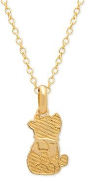 "Children's Winnie the Pooh 15"" Pendant Necklace in 14k Gold"