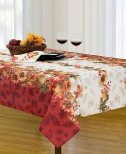 """Swaying Leaves Double Border 60"""" x 120"""" Tablecloth"""