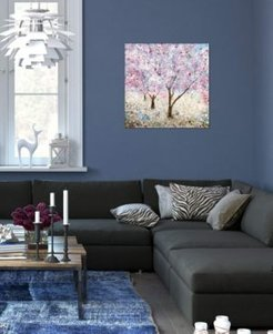 """""""Cherry Blossom Festival Ii"""" by Katrina Craven 18x18"""" Gallery-Wrapped Canvas Print"""
