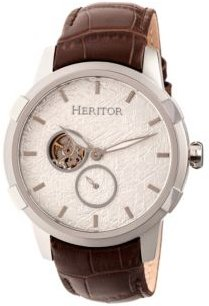 Automatic Callisto Silver Leather Watches 45mm