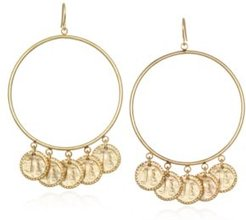 """Capwell & Co. Forward Extra Large 2.9"""" Hoop Earring"""