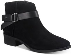 Briana Suede Booties, Created for Macy's Women's Shoes