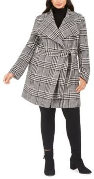 Plus Size Belted Coat