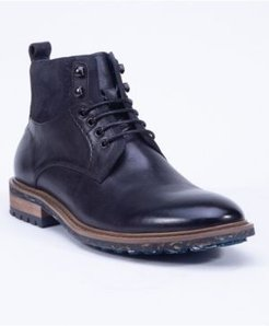 Leather Lace Up Boot Men's Shoes