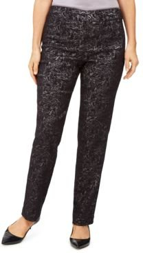 Jacquard Straight-Leg Pants, Created For Macy's