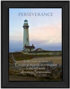 "Perseverance By Trendy Decor4U, Printed Wall Art, Ready to hang, Black Frame, 10"" x 14"""