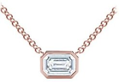 Tribute Collection Diamond (1/4 ct. t.w.) Necklace with Mill-Grain in 18k Yellow, White and Rose Gold
